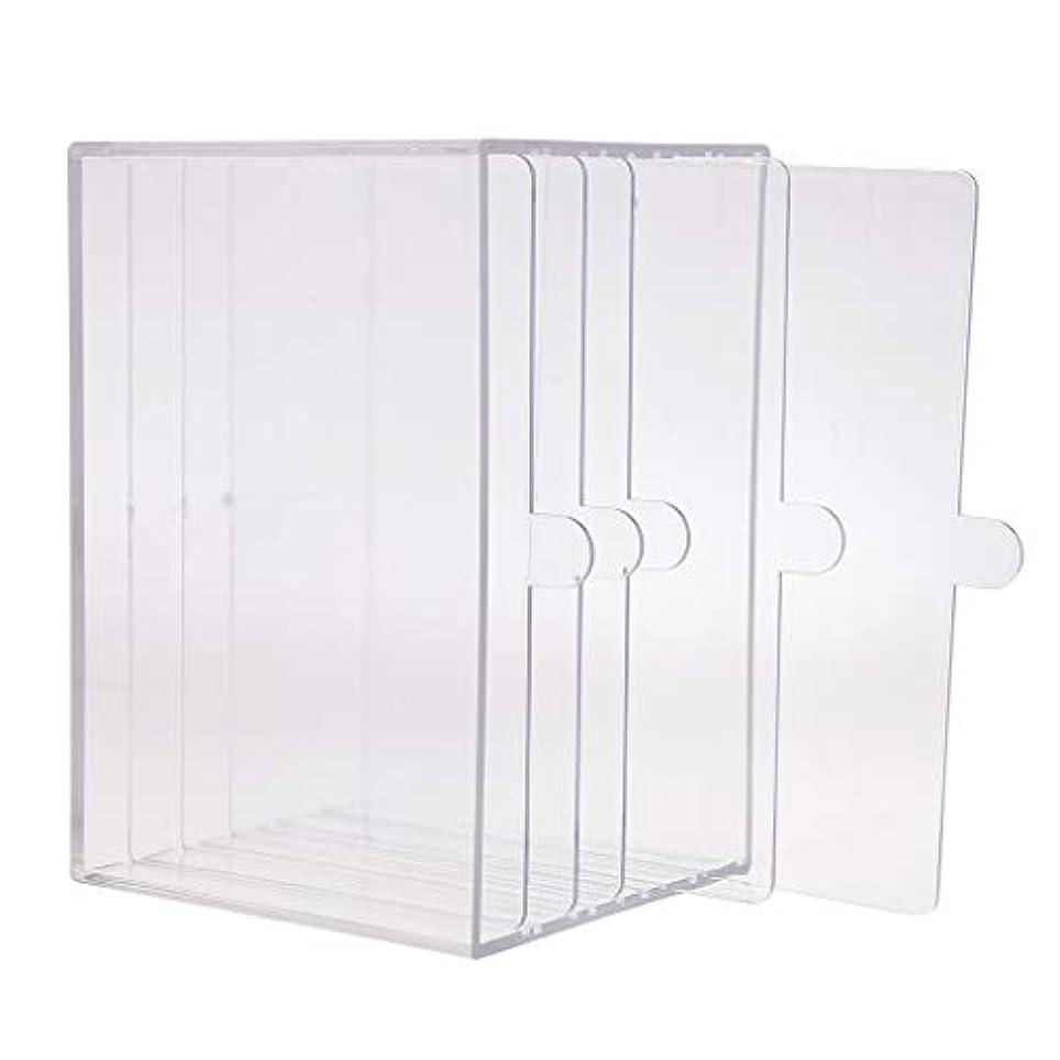 新年見通し絡み合いネイルアート ディスプレイケース 収納ボックス ネイルチップ 収納容器 サロンツール プロ用