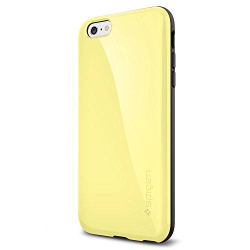 iPhone 6 Plus ケース Spigen [ 衝撃吸収+グリップ感 ] カペラ 電磁波軽減 プレート Apple iPhone (5.5) アイフォン 6 プラス カバー (国内正規品) (レモン・イエロー 【SGP11086】)