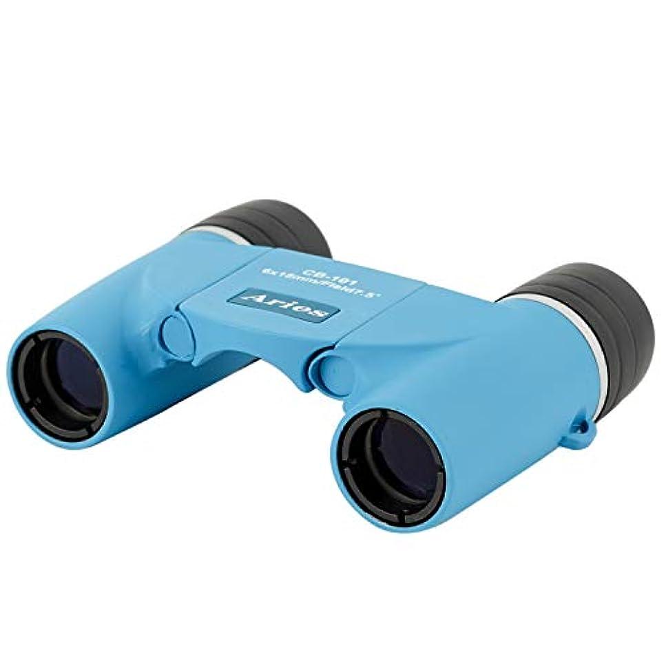 疑問を超えて対立マットMIZAR-TEC 双眼鏡 ダハプリズム式 6倍18ミリ口径 アリエス コンパクトタイプ ポーチ付き ブルー CB-101BL