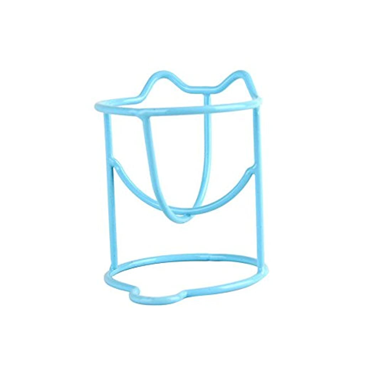 クルーそれら縞模様の2つの乾燥ホルダーラックファッションメイク卵パウダーパフスポンジディスプレイスタンドのセット