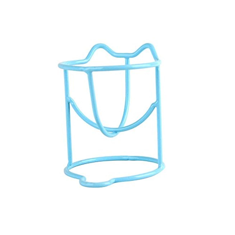 高齢者プラットフォーム木材2つの乾燥ホルダーラックファッションメイク卵パウダーパフスポンジディスプレイスタンドのセット