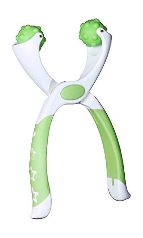 生物学簡単な本質的ではないつまんdeペンチ ツボ押し【手用】 グリーン ポーチ付き「職場で使える軽くて持ち運べるマッサージ機」