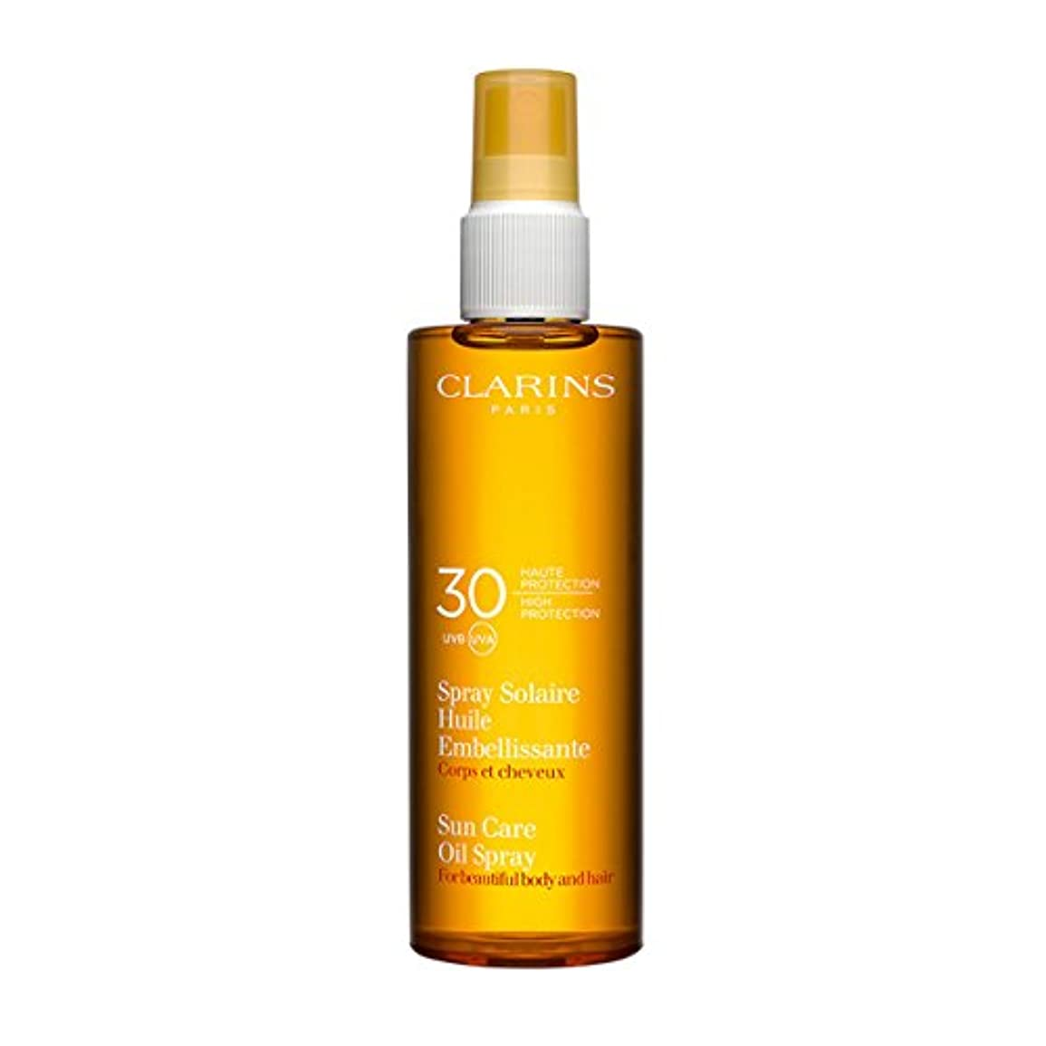 比較ひばり幹Clarins Sun Care Oil Spray For Beautiful Body and Hair Spf30 150ml [並行輸入品]