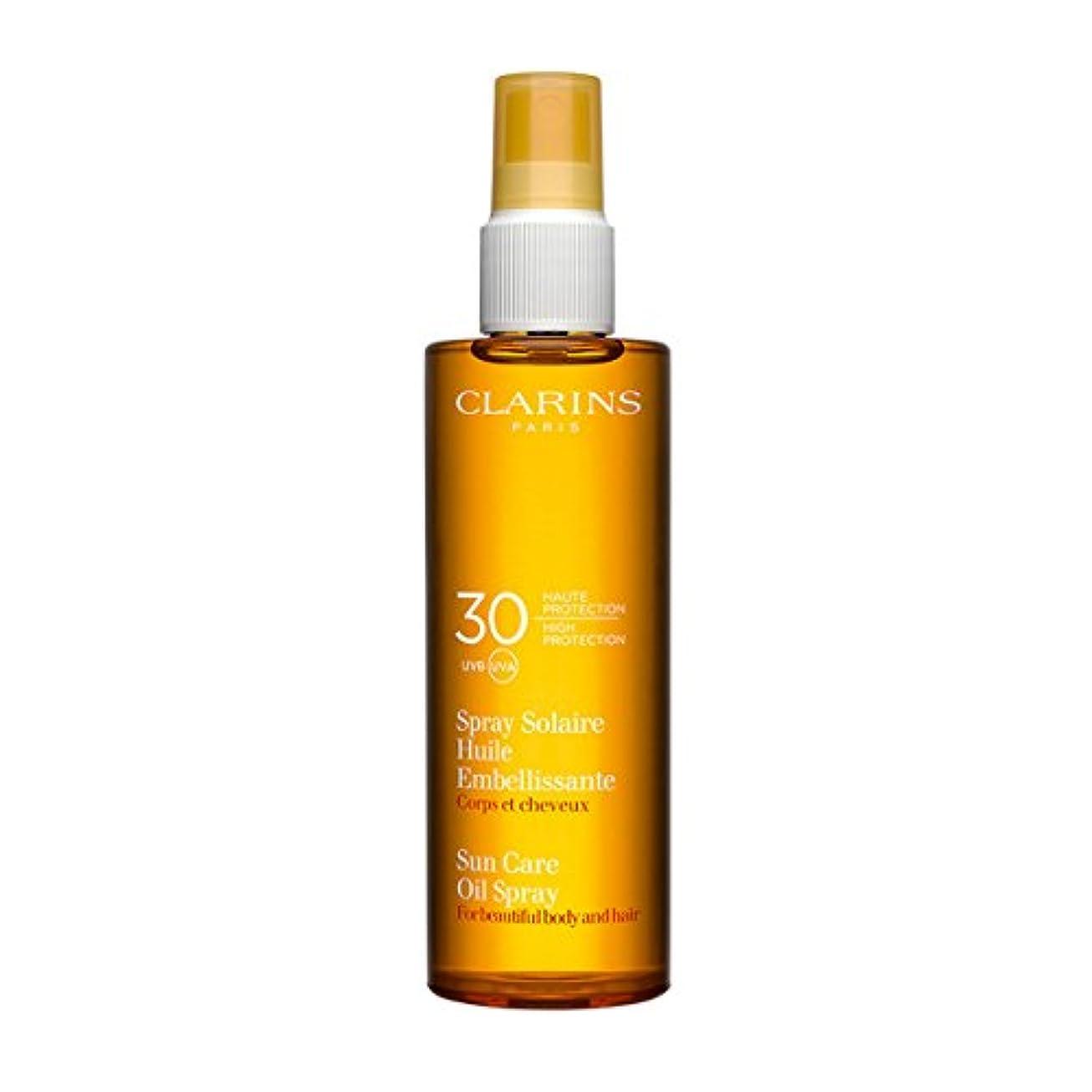 前方へパーティションオークションClarins Sun Care Oil Spray For Beautiful Body and Hair Spf30 150ml [並行輸入品]