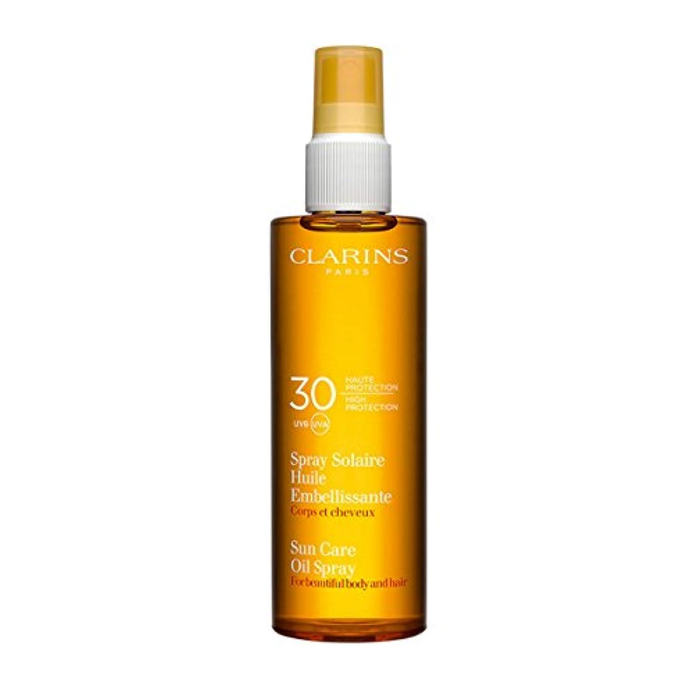親指抽出重量Clarins Sun Care Oil Spray For Beautiful Body and Hair Spf30 150ml [並行輸入品]