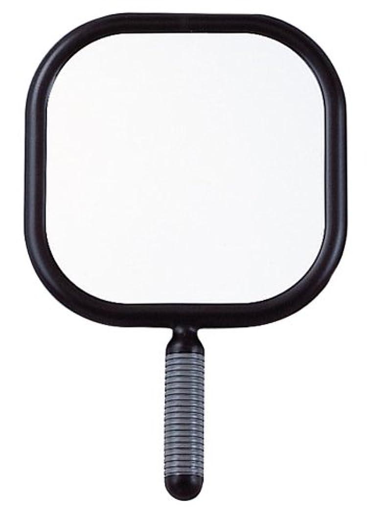ゾーンチューブリベラルリビエール 角型 ハンドミラー Y-1403 ブラック