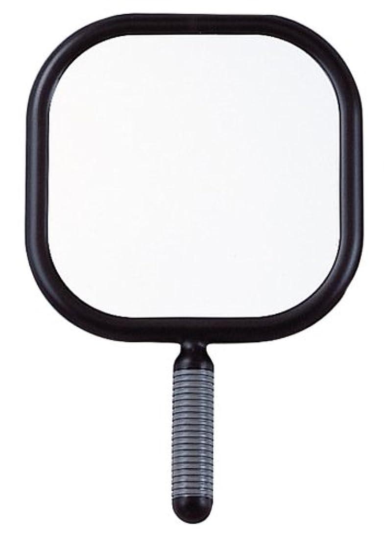 日記マットレス時計リビエール 角型 ハンドミラー Y-1403 ブラック