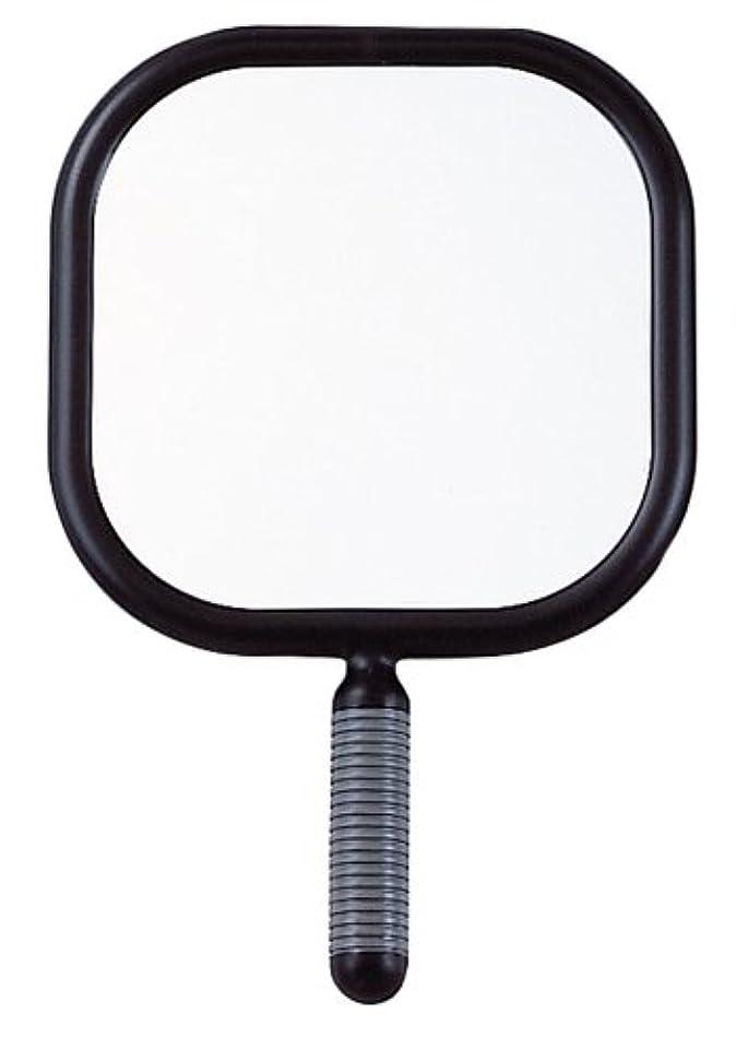 一致する子豚縁リビエール 角型 ハンドミラー Y-1403 ブラック