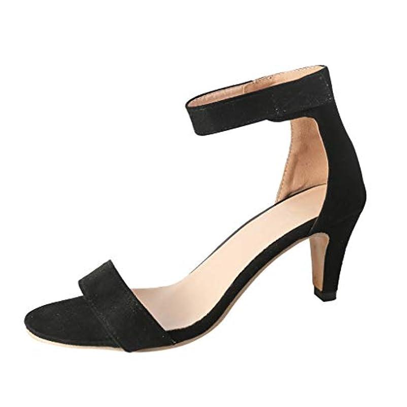 推進とまり木クーポンレディース サンダル Tongdaxinxi 女性の薄い ハイヒールのサンダル 夏足首ストラップ レディース パンプス ローマの靴 歩きやすい おしゃれ サンダル レディース レディース 歩きやすい 痛くない