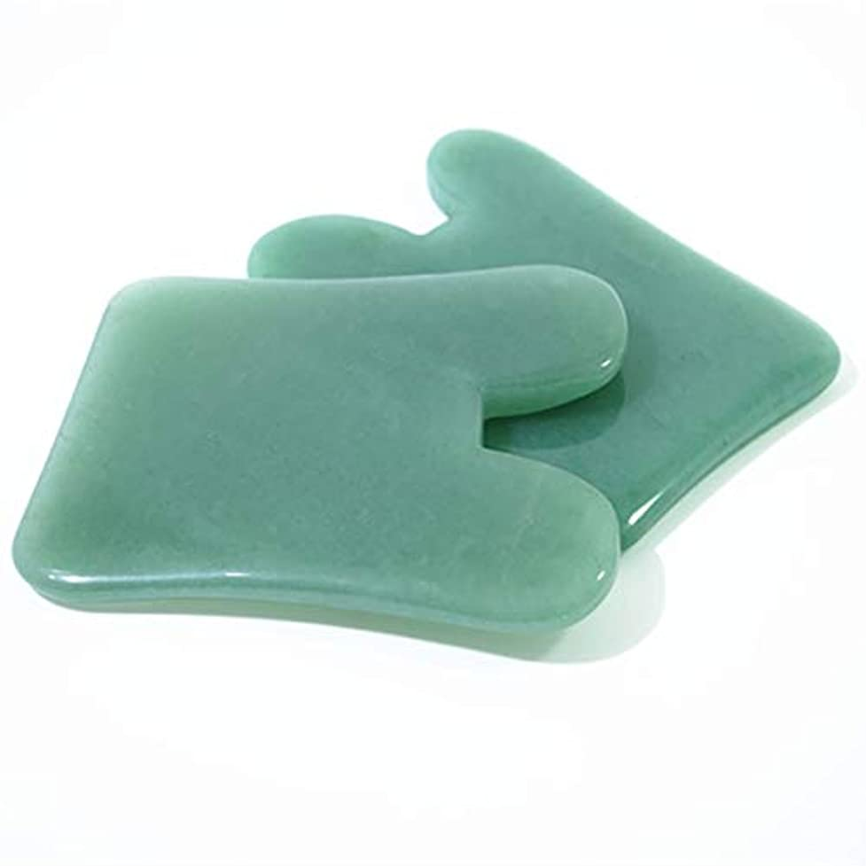 俳優調子そしてNatural Portable Size Gua Sha Facial Treatment Massage Tool Chinese Natural Jade Scraping Tools Massage Healing...