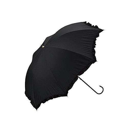 日傘 晴雨兼用 ワールドパーティ W.P.C uv uvカット 長傘 おしゃれ フリル レース かわいい 黒 軽量 遮光 遮熱 カサ 紫外線 99% 女性用 81-6289 wpc81 811349BK.フリル(黒)