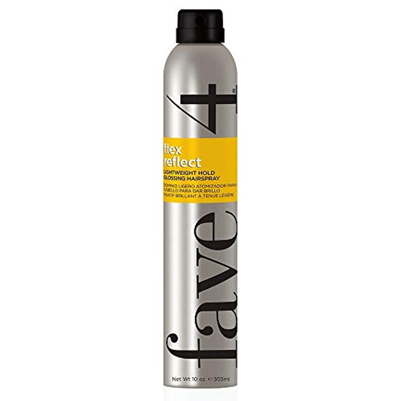 知り合いになるベーコン本質的ではないFave4 Flex Reflect Lightweight Glossing Hairspray 10 oz by FAVE