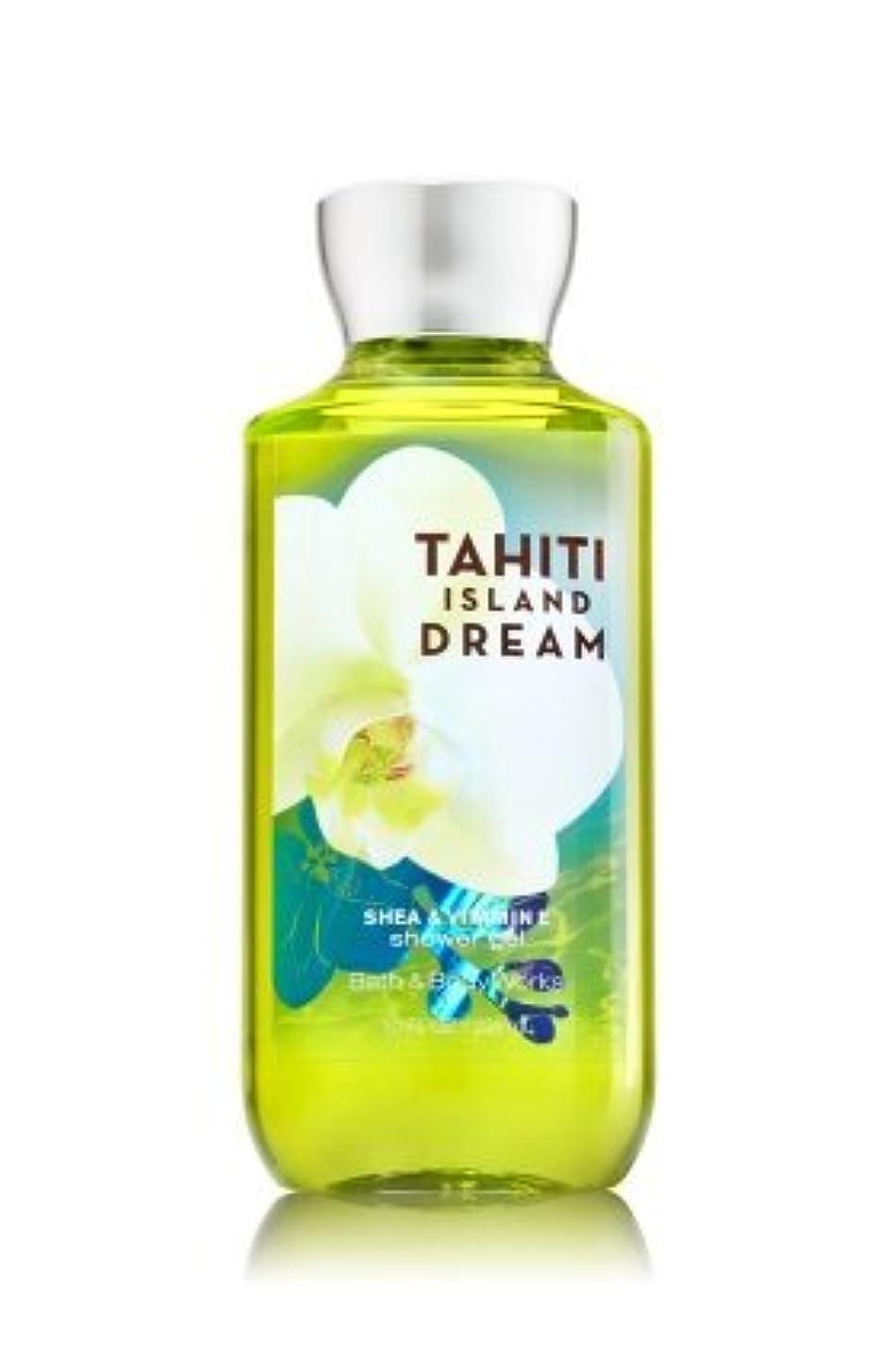 可愛いマーカー付き添い人【Bath&Body Works/バス&ボディワークス】 シャワージェル タヒチアイランドドリーム Shower Gel Tahiti Island Dream 10 fl oz / 295 mL [並行輸入品]