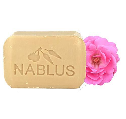 ナーブルスソープ ナーブルスソープ ナーブルスソープ(ダマスクローズ) 100%無添加 オーガニック石鹸 フェイシャル&ボディー 100g 自然なダマスクローズの香りの画像