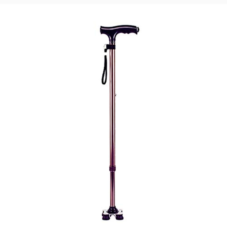 収束環境カエル高さ調整可能な杖、スタイリッシュな杖、LEDライト、高齢者や身体の不自由な方に最適 Brown