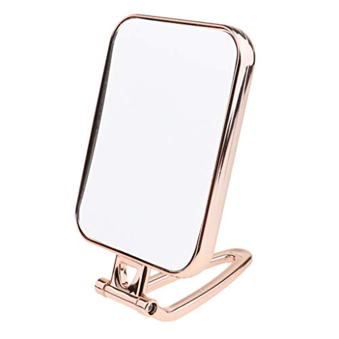 マーティフィールディング暴徒トレイB Blesiya 全3色 スクエア 両面鏡 両面ミラー テーブルミラー 化粧鏡 卓上化粧用品 - ゴールド