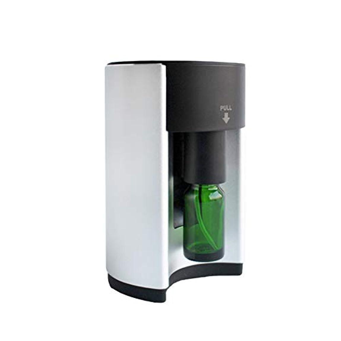 音声ダンプ私達広範囲適用 アロマディフューザー ネブライザー式 シルバー アロマオイル アロマグラス 人気 タイマー機能 コンパクトタイプ エッセンシャルオイル 加湿 うるおい