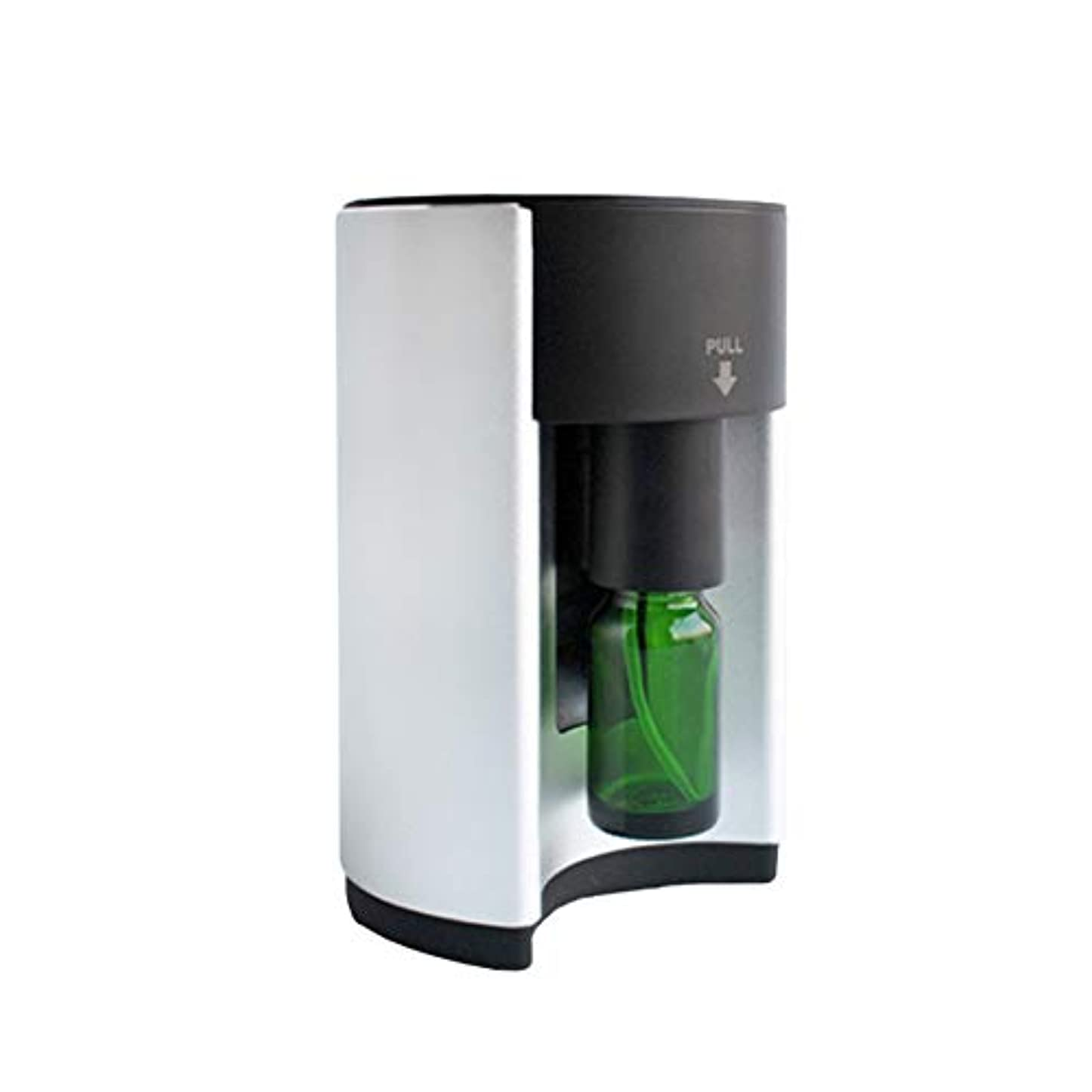 用心する流行しているピアース広範囲適用 アロマディフューザー ネブライザー式 シルバー アロマオイル アロマグラス 人気 タイマー機能 コンパクトタイプ エッセンシャルオイル 加湿 うるおい