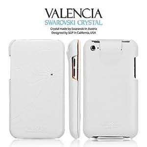 SPIGEN SGP アイポッド タッチ ( 第4世代 ) ケース Valencia 【 WHITE 】 本革 フリップタイプ for Apple iPod touch 4G 【 SGP07149 】
