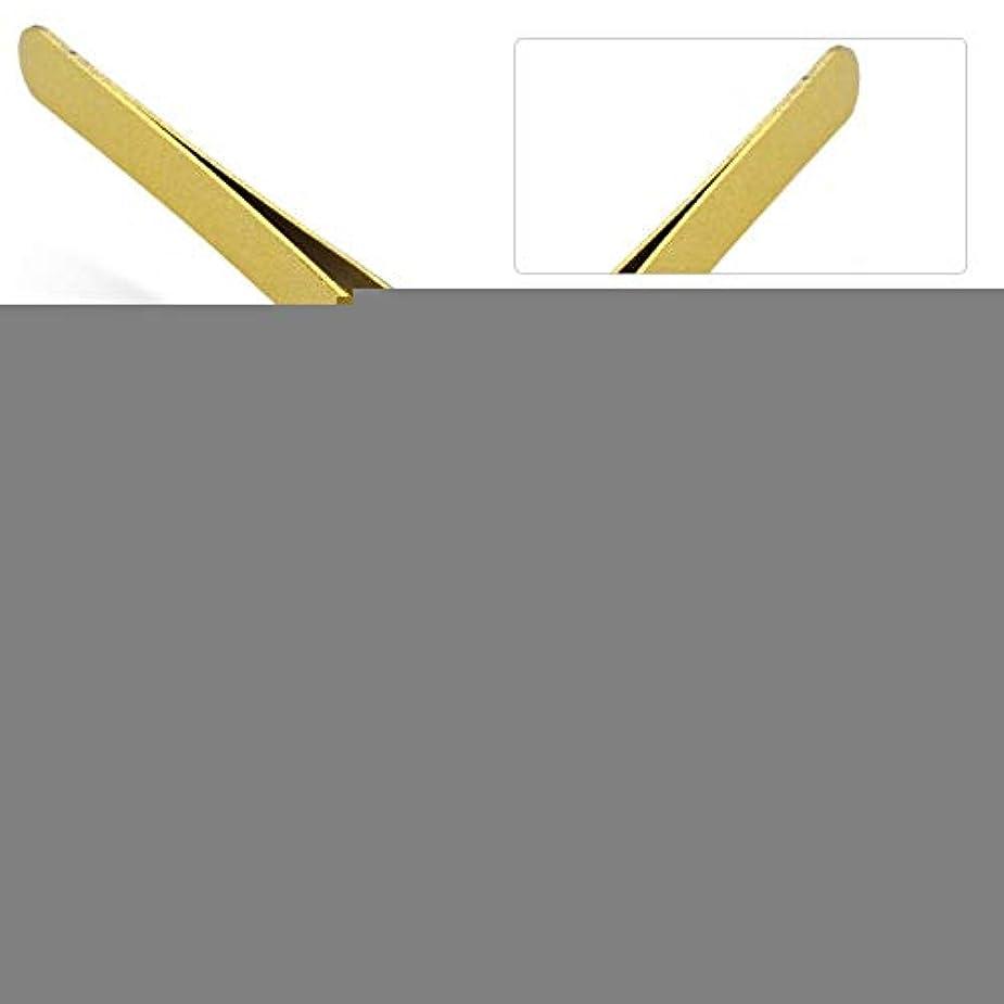 広がりサラミ秘書まつげエクステンションの偽まつげのグラフトのための専門のステンレス鋼ピンセット(# 2)