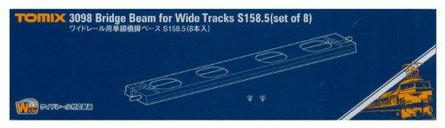 TOMIX Nゲージ 3098 ワイドレール用単線橋脚ベースS158.5  8本入