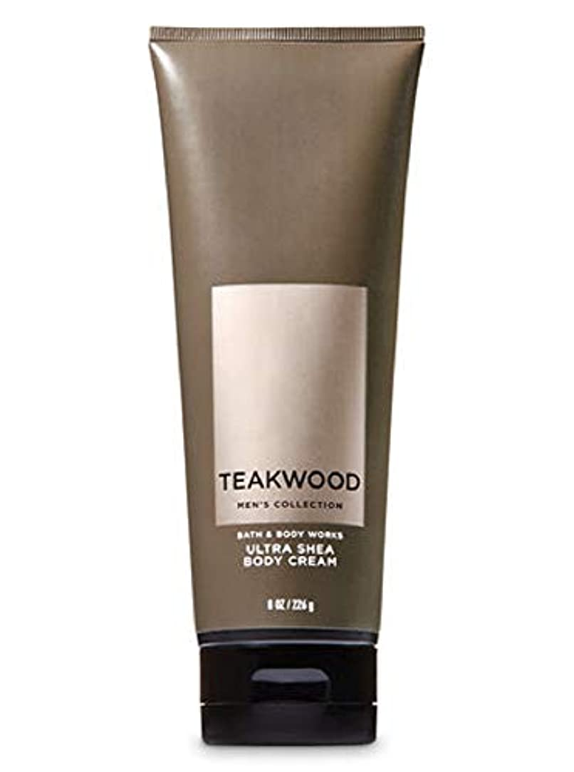 災害質量ジョイント【並行輸入品】Bath & Body Works Men's Ultra Shea Body Cream in TEAKWOOD 226 g