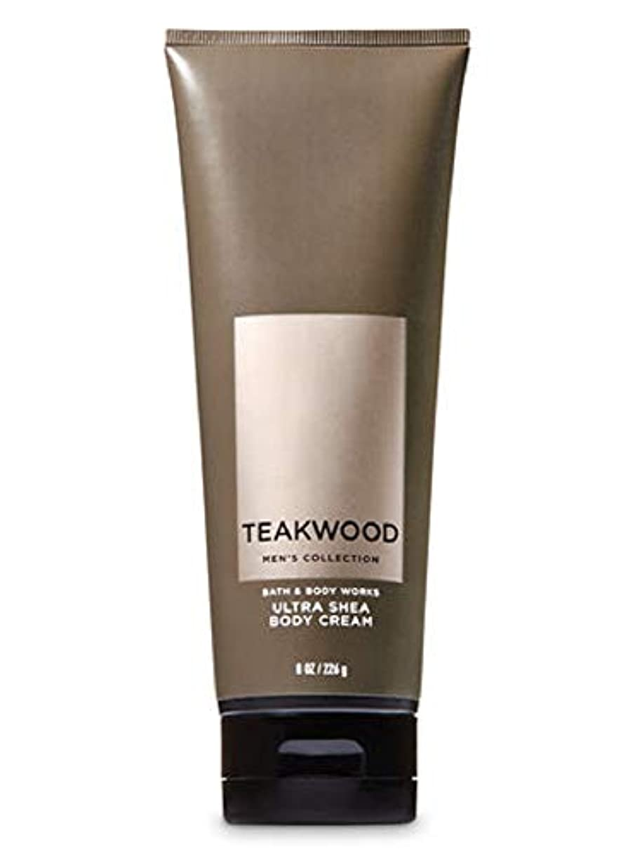 フィット線形チャット【並行輸入品】Bath & Body Works Men's Ultra Shea Body Cream in TEAKWOOD 226 g