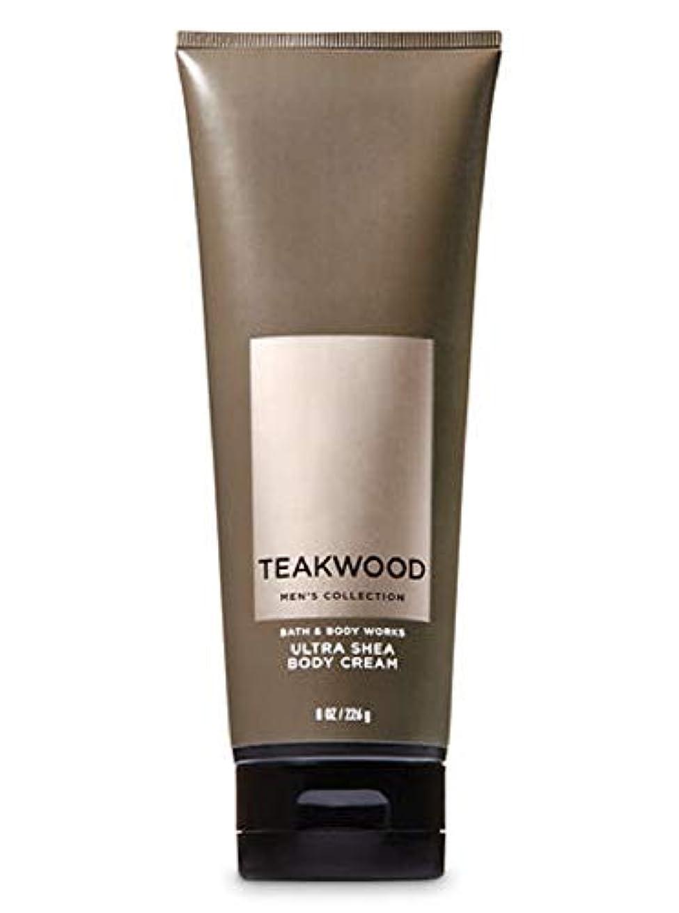 軍団激しい休憩する【並行輸入品】Bath & Body Works Men's Ultra Shea Body Cream in TEAKWOOD 226 g