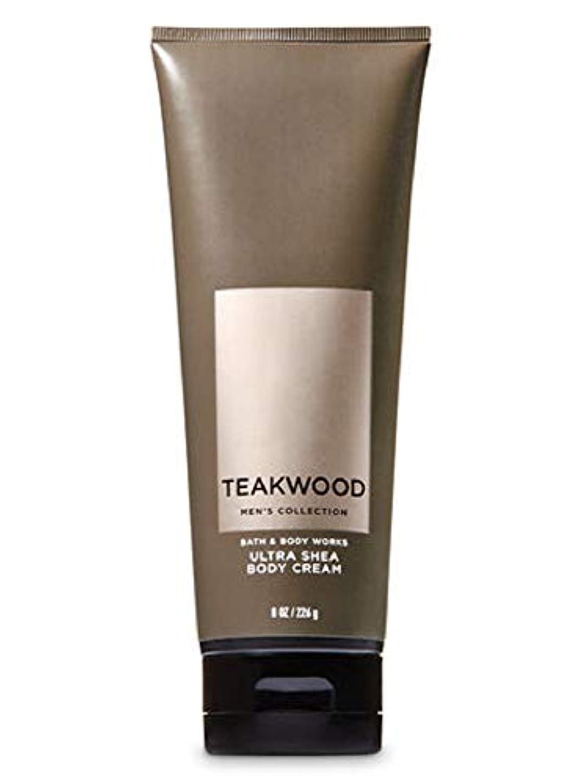 ノベルティ判決スクラップブック【並行輸入品】Bath & Body Works Men's Ultra Shea Body Cream in TEAKWOOD 226 g