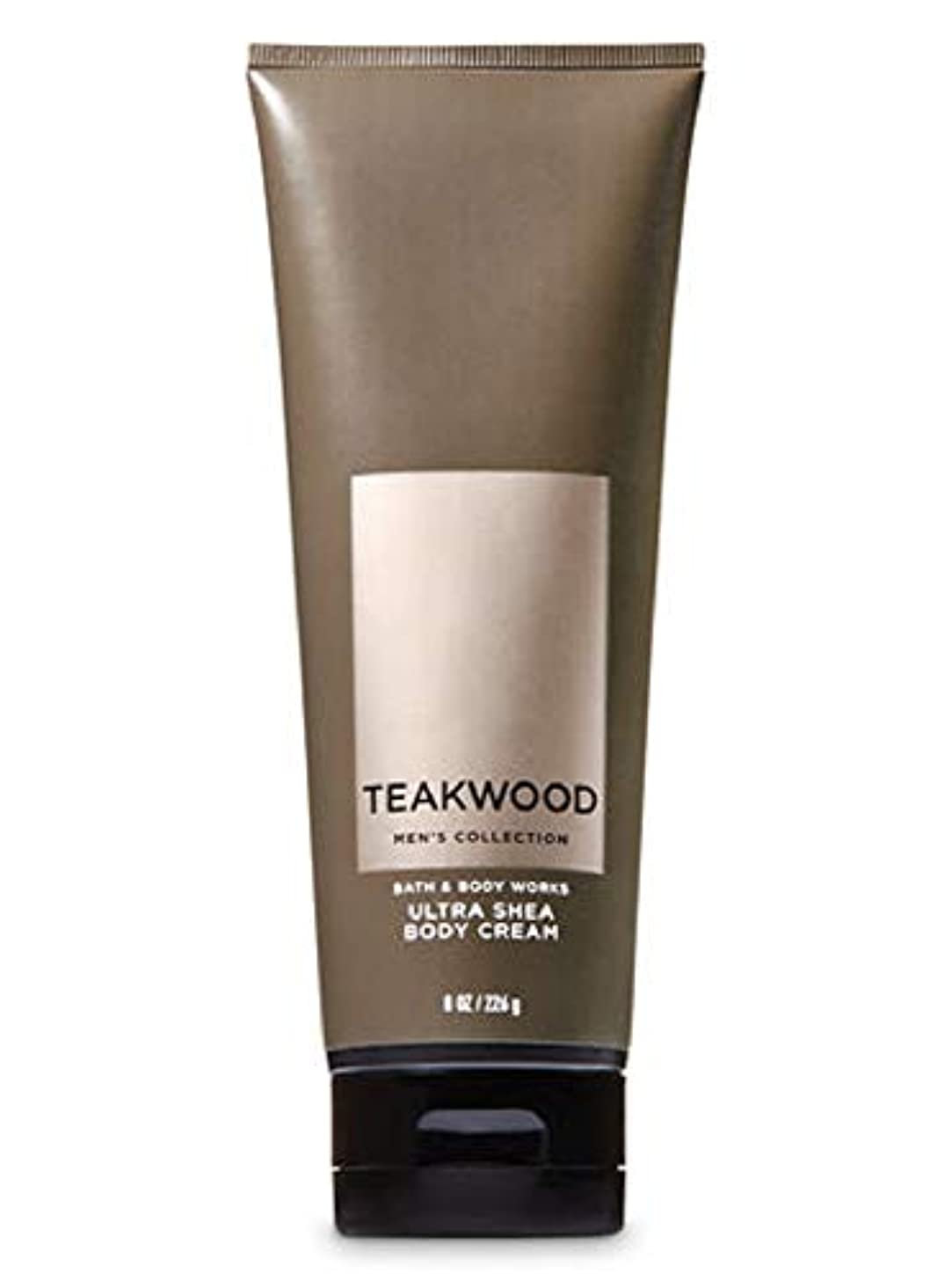 【並行輸入品】Bath & Body Works Men's Ultra Shea Body Cream in TEAKWOOD 226 g