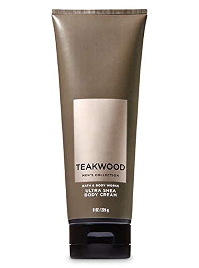 上回るオークランド損傷【並行輸入品】Bath & Body Works Men's Ultra Shea Body Cream in TEAKWOOD 226 g