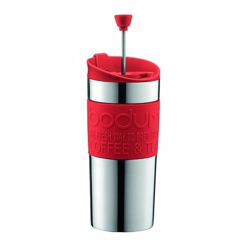 神経衰弱帰る調和のとれた【正規品】 BODUM ボダム TRAVEL PRESS SET マグ用リッド付コーヒーメーカー 350ml レッド K11067-294