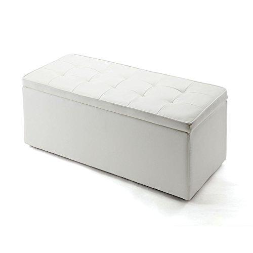サンワダイレクト 収納スツール ボックススツール ワイド ホワイト 150-SNCBOX2W
