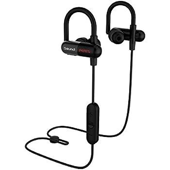 SoundPEATS Bluetooth イヤホン 高音質[メーカー直販/1年保証付]apt-Xコーデック採用 耳にひっかけるタイプ 防水防滴 スポーツ イヤホン ハンズフリー通話 CVC6.0ノイズキャンセリング機能 ブルートゥース イヤホン Bluetooth ヘッドホン ワイヤレス イヤホン Q11 ブラック