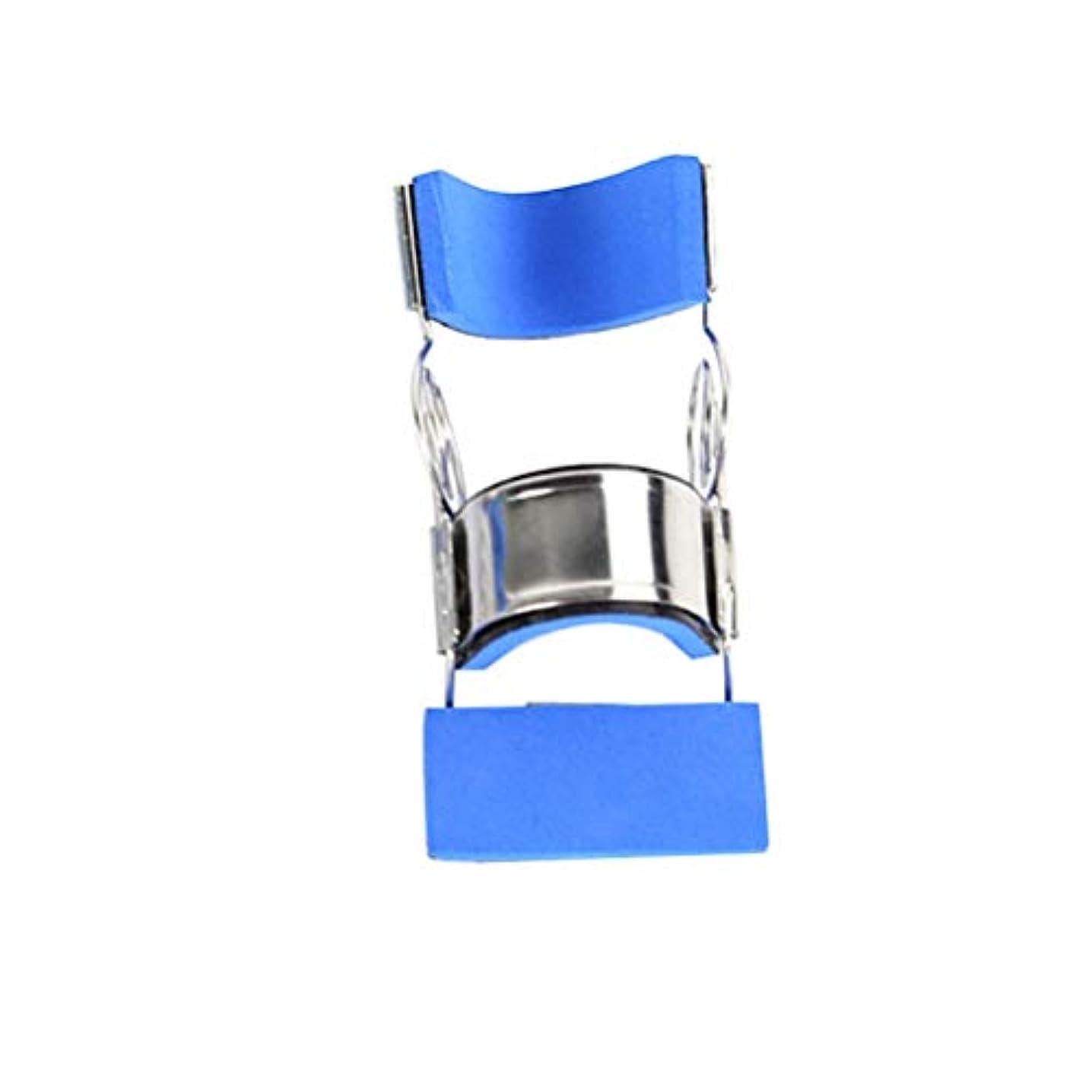 不当十無実Healifty ステンレス鋼指の添え木可動式まっすぐ指保護スリーブサイズL