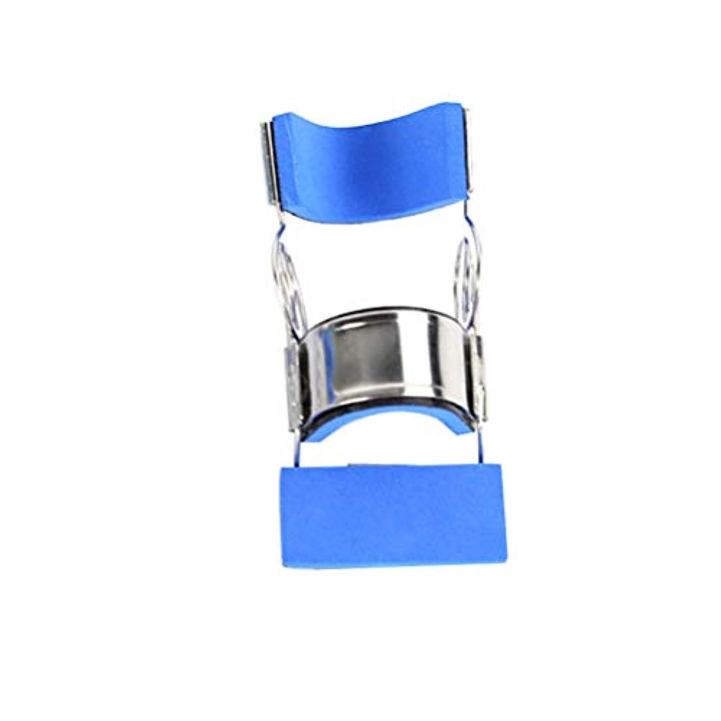 Healifty ステンレス鋼指の添え木可動式まっすぐ指保護スリーブサイズL