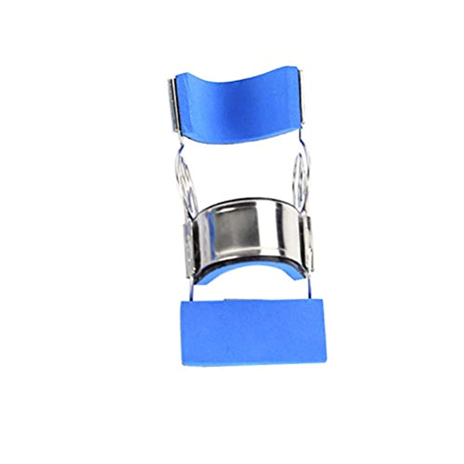触覚夫婦文房具Healifty ステンレス鋼指の添え木可動式まっすぐ指保護スリーブサイズL