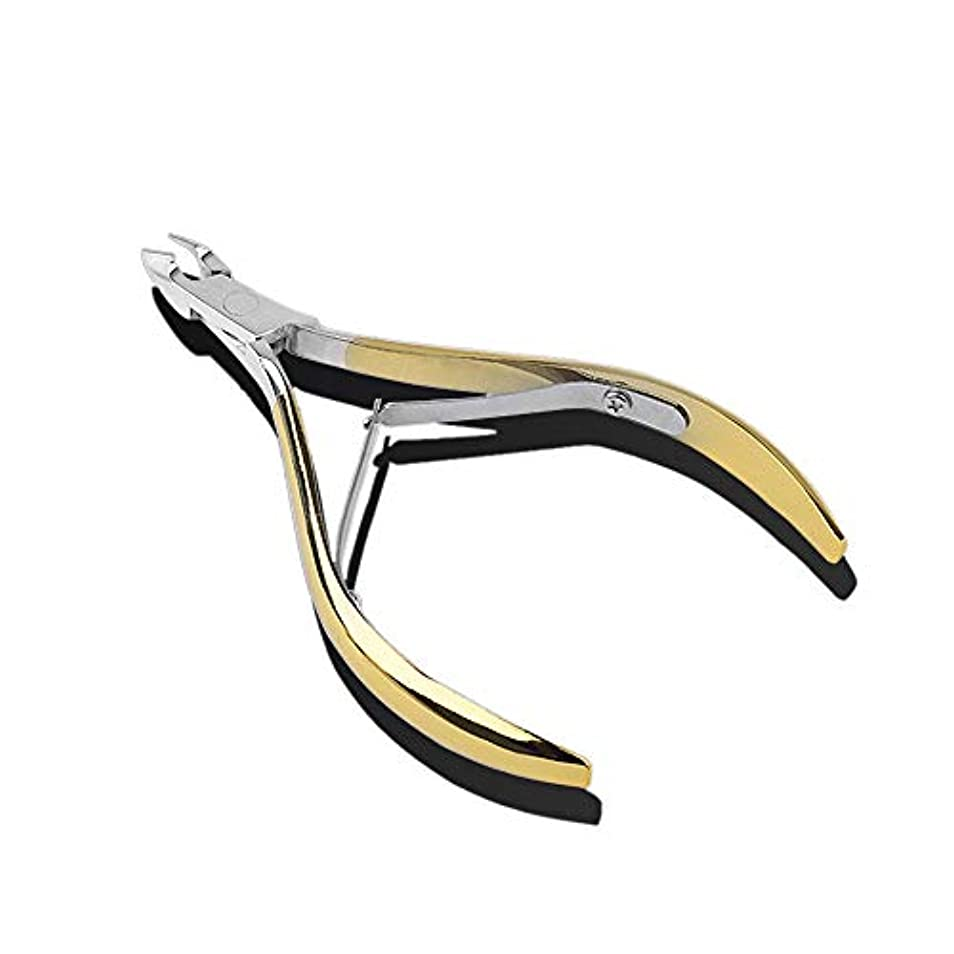 セールスマンライオネルグリーンストリート展示会ニッパー型爪切りステンレス鋼 爪切り ニッパーツメキリ最適 お年寄り 高齢者 医療 介護 あしまき、ゴールド