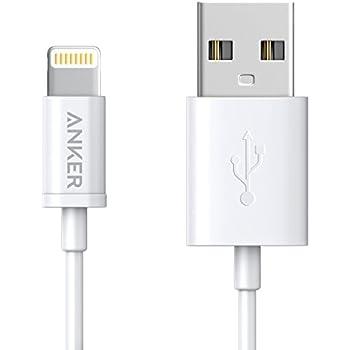 Anker プレミアムライトニングUSBケーブル 【iPhone X / 8/ 8 Plus 対応 / Apple認証】コンパクト端子 ( ホワイト0.9m ) A7101021