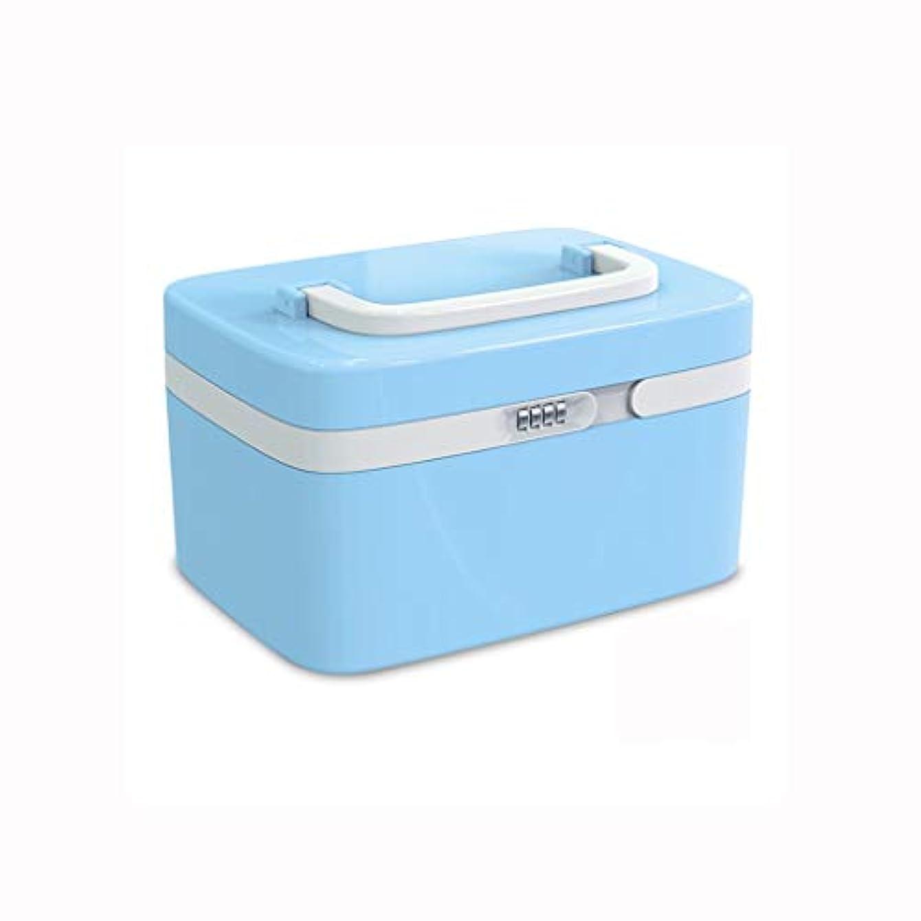 コイン量ワイヤー家庭用薬箱プラスチック救急箱薬収納ボックス携帯用医療箱パスワードロック付き AMINIY (Color : A)