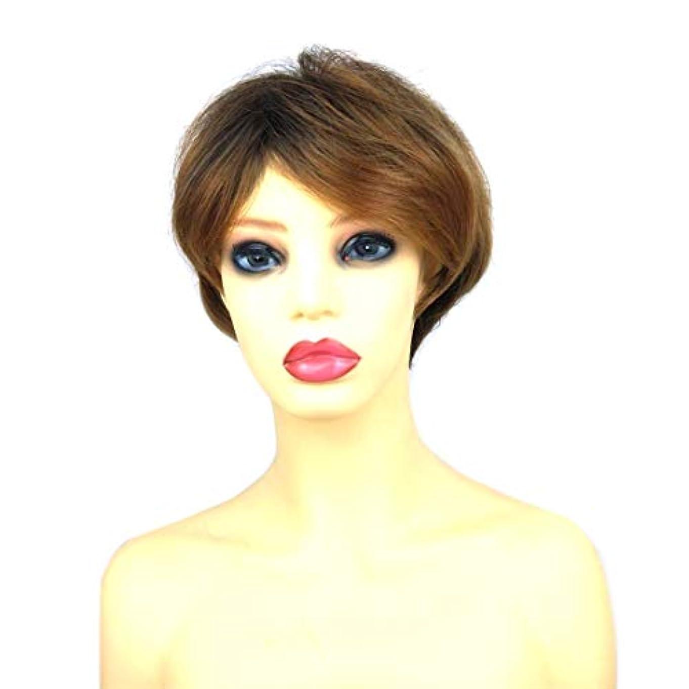大臣ベジタリアンストッキングSummerys 女性のための短いかつらブロンドボブ髪かつら自然に見える耐熱性合成ファッションかつら