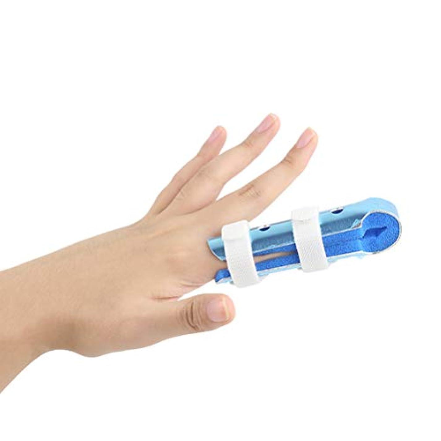 報復収まる労働Healifty Finger splintストレートナー壊れたフィンガープロテクターサムフィンガーイモビライザーサポート(ブルー)