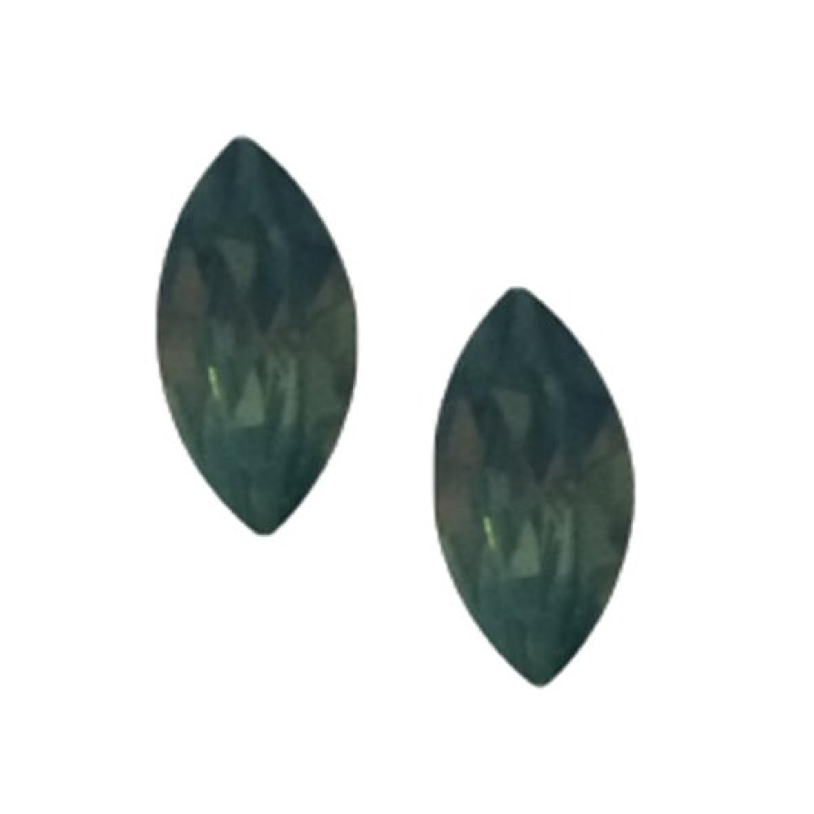 振幅虹スキーPOSH ART ネイルパーツ馬眼型 3*6mm 10P グリーンオパール