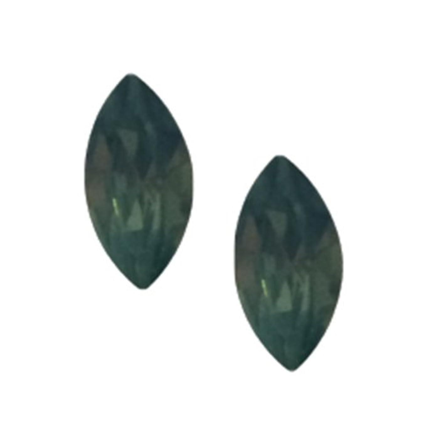 POSH ART ネイルパーツ馬眼型 3*6mm 10P グリーンオパール