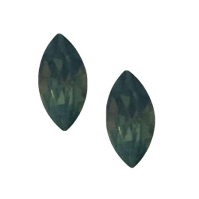 ソロ分子効能あるPOSH ART ネイルパーツ馬眼型 3*6mm 10P グリーンオパール