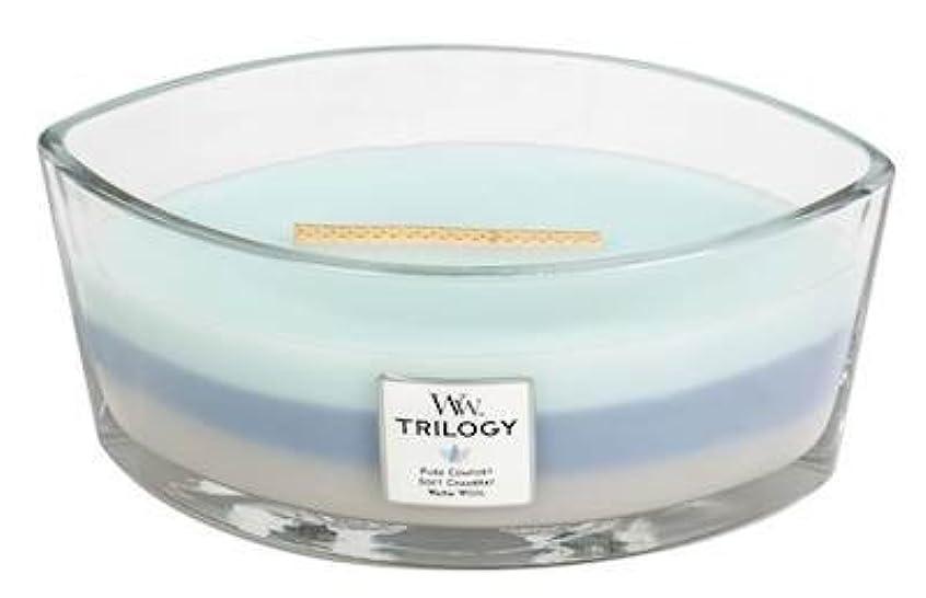 タイトル英語の授業がありまするWOVEN COMFORTS TRILOGY - HearthWick Flame Scented Candle by WoodWick - 3 in One