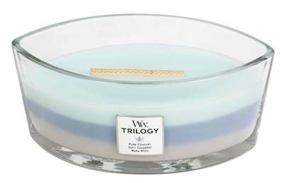 ペチュランス計器にもかかわらずWOVEN COMFORTS TRILOGY - HearthWick Flame Scented Candle by WoodWick - 3 in One