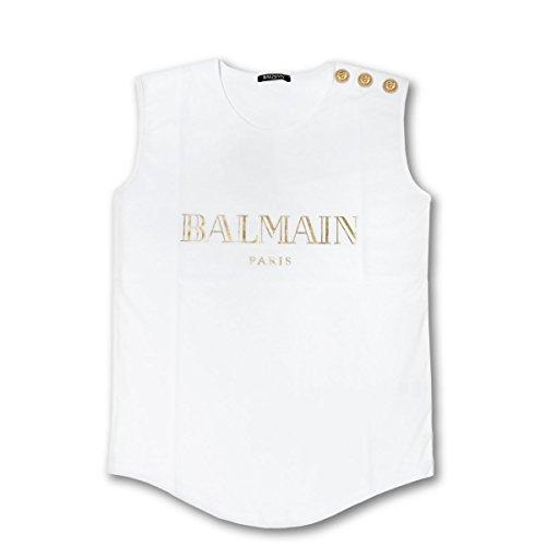 (バルマン) BALMAIN タンクトップ ホワイト 108563 326I C0001 [並行輸入品]