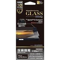ラスタバナナ Xperia X Compact SO-02J フィルム 強化ガラス 全面保護 光沢 3Dフレーム ブラック エクスペリアX コンパクト 液晶保護フィルム 3S767XPXCB