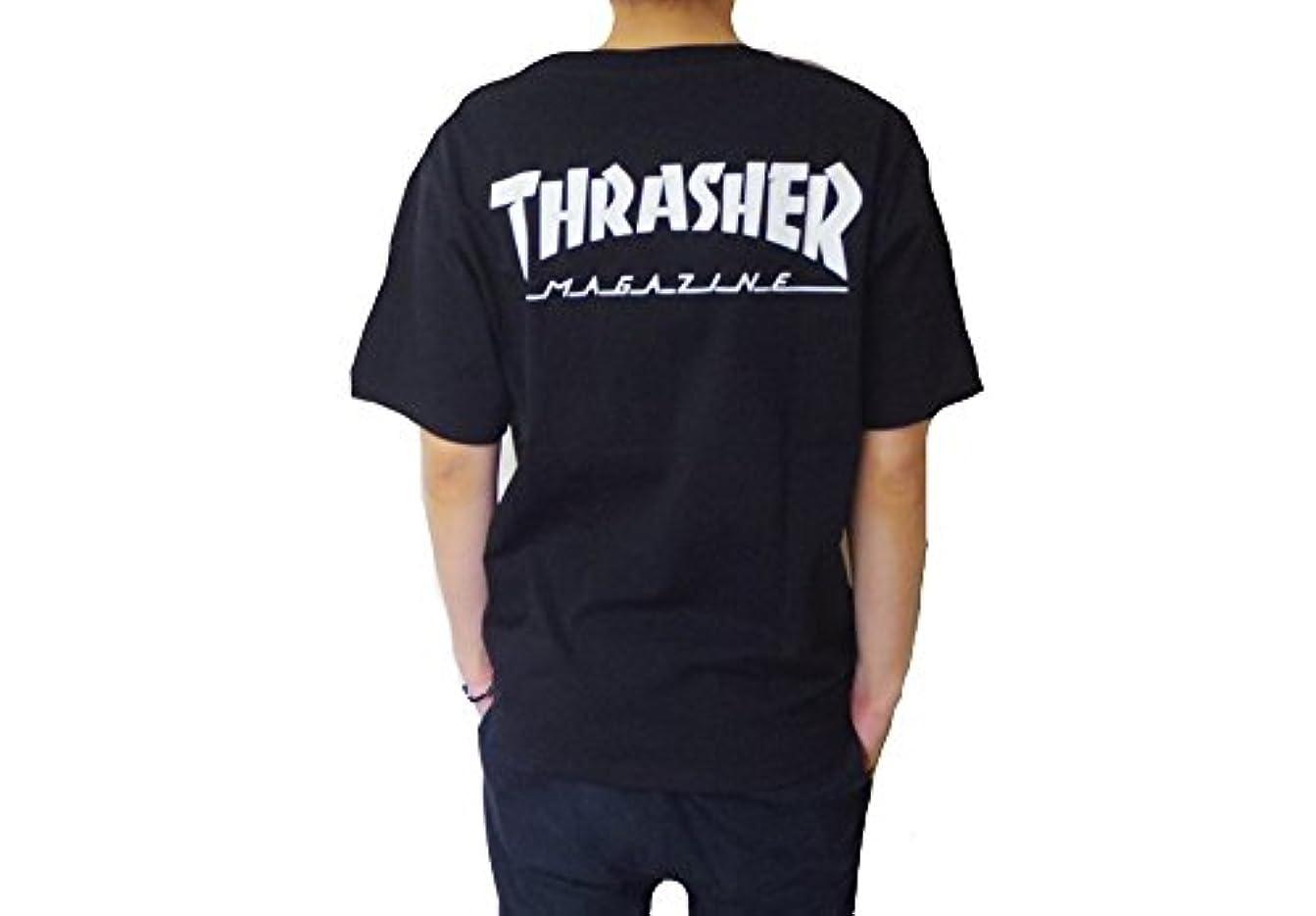 デコラティブ受け入れる普遍的なTHRASHER ポケットTシャツ 半袖Tシャツ WHITE BLK/WHT BLK/ORG 3カラー スラッシャー HOMETOWN POCKET TEE th8102ept